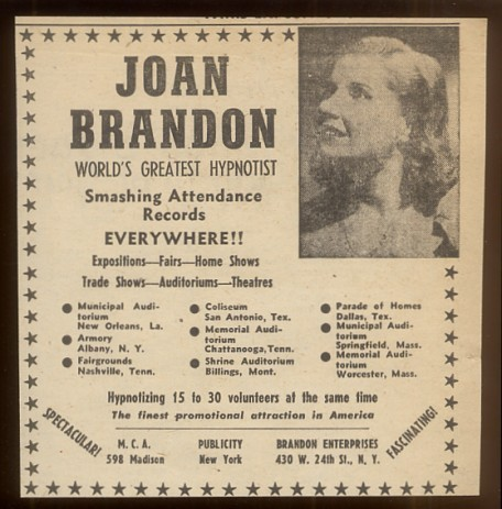 Joan Brandon Best female magician woman magic